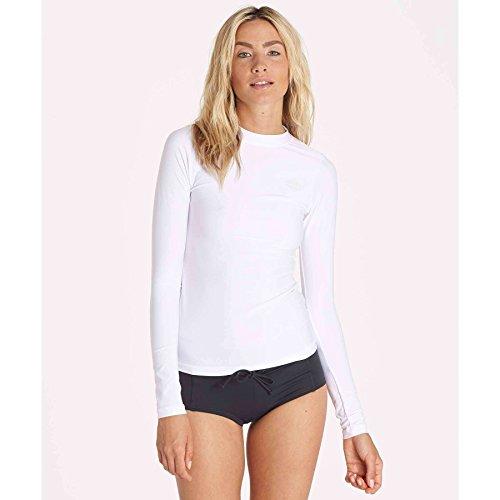 Billabong Womens Core Loose Fit Long Sleeve Wet Shirt Rashguard White Small