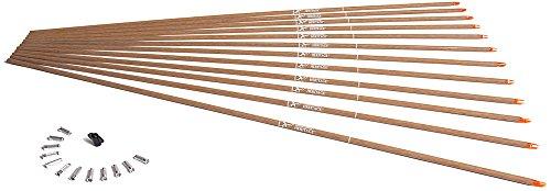 Carbon Express Heritage BuffTuff Classic Cedar Pattern Carbon Arrow Shafts 12 Pack Size 350