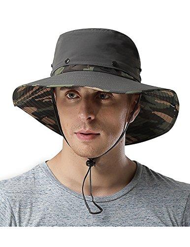 215c0a6b93b Waterproof Outdoor Wide Brim Sun Hat by Feeker Fishing Hunting Hiking Sun  Boonie Hat for Men