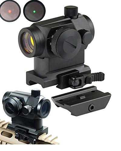 Ledsnipertactical Mini Micro Reflex Red Dot Scope Sight with Qd Quick Riser Mount