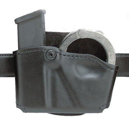 Safariland 573 Open Top Paddle Magazine Pouch with Handcuff Case STX Plain Black Right Hand