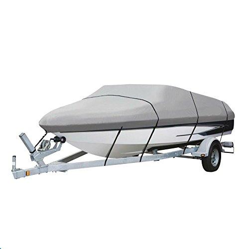 4 Seasons Deluxe 20 21 22 Runabout Ski V-Hull Boat Cover 600 Denier - Gray
