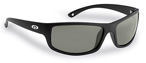fa82c010c9 Flying Fisherman 7756BS Slack Tide Polarized Sunglasses Matte Black Frames  Smoke Lens