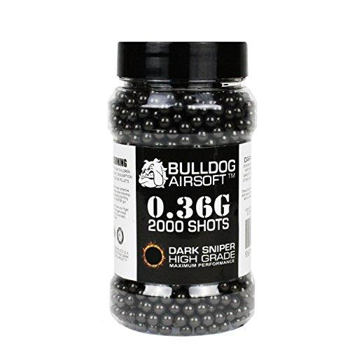 Bulldog 036g 2000 Dark Sniper Airsoft BB Pellets Black