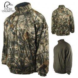 Ducks Unlimited Sherpa Fleece 14 Zip Jacket L- RTMX-4