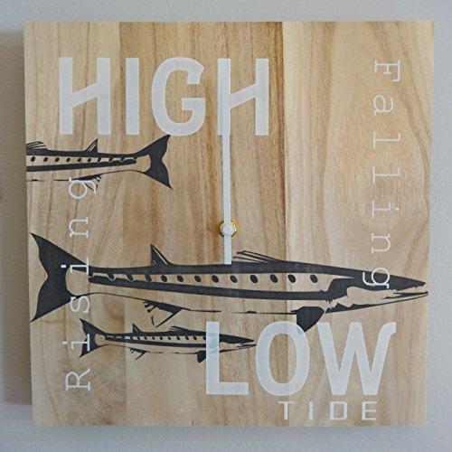 Tide Clock Timer - Handmade - Nautical - For the Fisherman - Barracuda