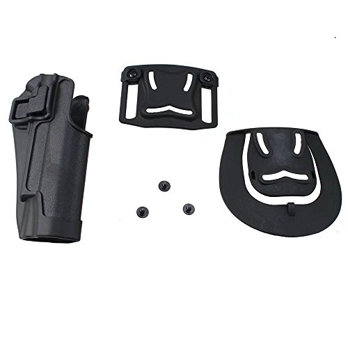 JahyShow Military Special Forces Quick Release Speed Immediate Retention Audible Click Black Tactical Holster Right Hand Paddle Belt Holster for Colt 1911