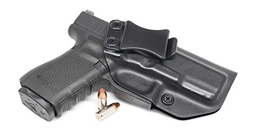 Concealment Express IWB KYDEX Gun Holster fits GLOCK 19 23 32 Gen 1-5 - Custom Molded Fit - US Made - Inside Waistband Concealed Carry Holster - Adj Cant Retention