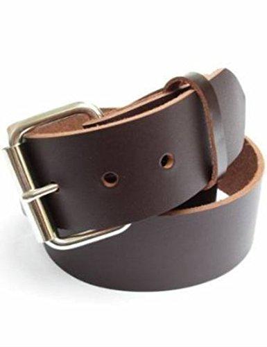 Dangerous Threads Gun Belt - Mens Heavy Dark Chocolate Brown Leather Belt 1 134 Wide - Concealed Carry Belt CCW 36