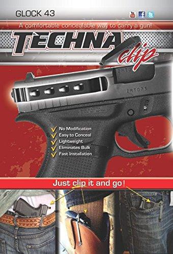 Techna Clip - Glock 43 9MM - Conceal Carry Belt Clip Ambidextrous