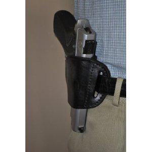 Black Leather Side Holster for Taurus 247 PT-92 PT-99 Gun