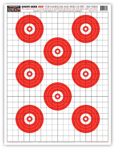 Sight Seer Red - Paper Gun Range Shooting Targets 19x25 Inch 5 Pack