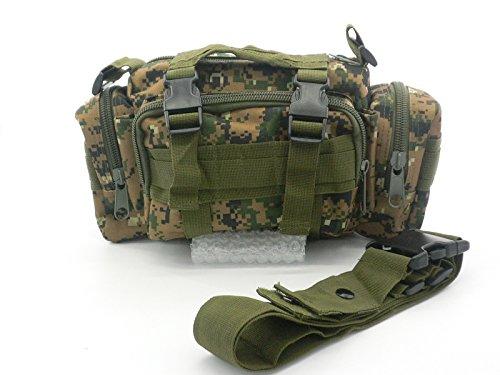 Durable 600D Waterproof Fablic Utility 3P Military Tactical Duffle Waist Bags Woodland Digital Camo