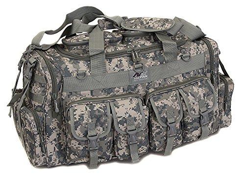 Mens Large 30 Inch ACU Digital Camo Duffel Duffle Military Molle Tactical Cargo Gear Shoulder Bag