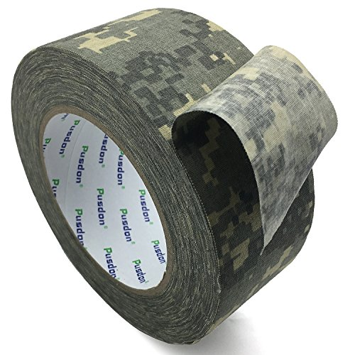 Pusdon Cloth Camo Tape Digital Camouflage Duct Tape 2-Inch x 30 Yards 51mm x 275m