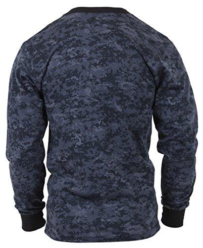 Rothco Long Sleeve Digital T-Shirts Midnight Digital Camo X-Large