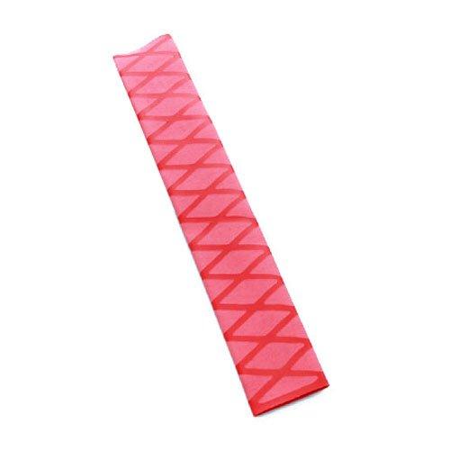 Non Slip Heat Shrink Rod Tube - SODIALR Non Slip Polyolefin X-TUBE Heat Shrink Tube Grip Fish Rod Racket HandleLength1M Tube Diameter35Mm Red