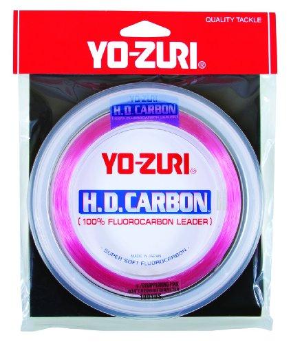 Yo-Zuri 100-Yard Fluorocarbon Leader Line Pink 25-Pound