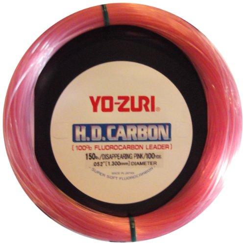 Yo-Zuri 30-Yard HD Fluorocarbon Leader Line Pink 50-Pound