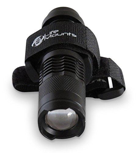 Life Mounts LED TacticalHunting Vest and Backpack Light with Strap Mount - Shoulder Mounted Safety Lighting Black