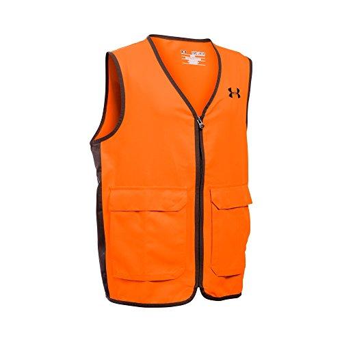 Under Armour Boys Blaze Antler Logo Hunting Vest Blaze OrangeTimber Youth Medium