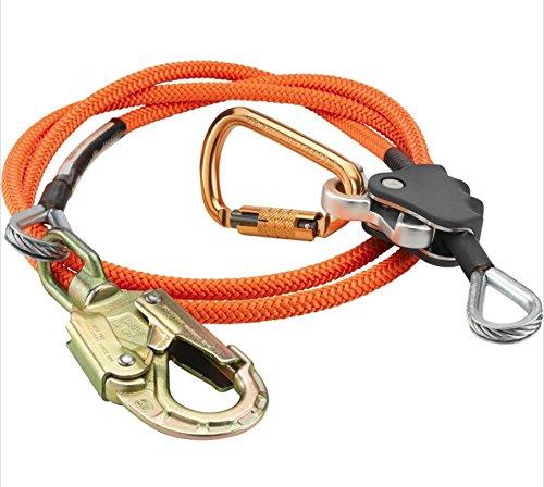 ProClimb Fall Protection Better Grab Rope Grab Arborist Flip Line Swivel Kit – 12 x 14 Lanyard