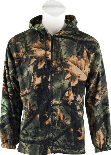 Trail Crest Fleece Hunting Camouflage Full Zip Hooded Sweatshirt Medium