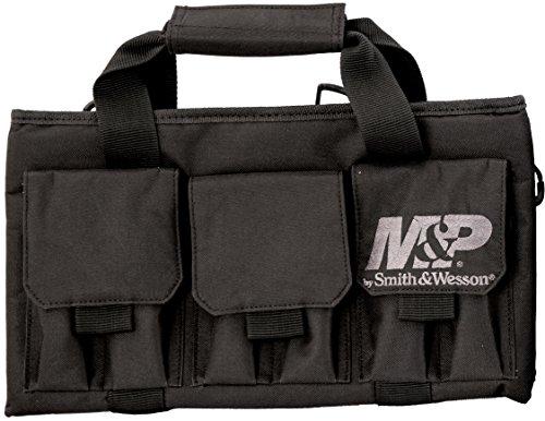Smith Wesson 110028 Gear Pro Tac Single Handgun Case Padded Pistol Bag for Hunting Shooting Range Sport Storage Transport Black