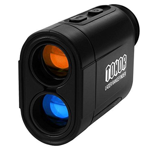 TONOR 650 Yards Laser Golf Range Finder for Hunting Fishing Rangefinder Black