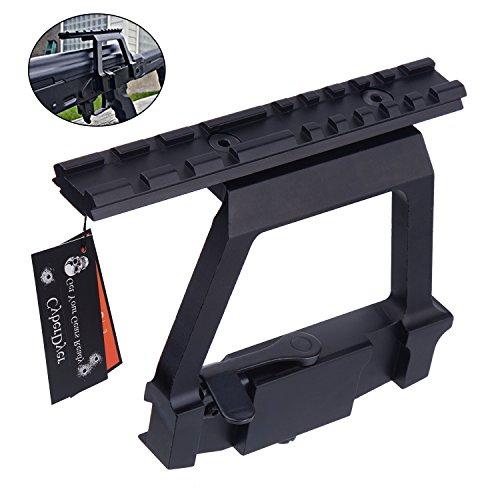 CyberDyer Heavy Duty Tactical Picatinny Side Rail Scope Mount Detach Rail Base Fit AK-47 Saiga