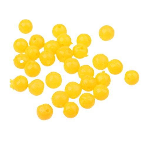 MagiDeal 30pcs Corn Smell Carp Fishing Bait Soft Floating Ball Beads Feeder Carp Baits Lure Hair Rig 8mm10mm12mm - M