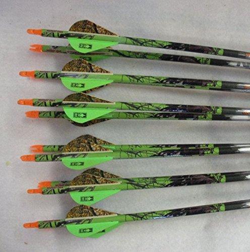 Beman ICS Bowhunter 340 Carbon Arrows wBlazer Vanes Mossy Oak Wraps 1 Dz