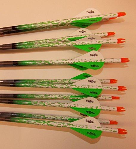 Easton ST Axis N Fused 340 Carbon Arrows wBlazer Vanes Bullseye Rain Wraps 1 Dz