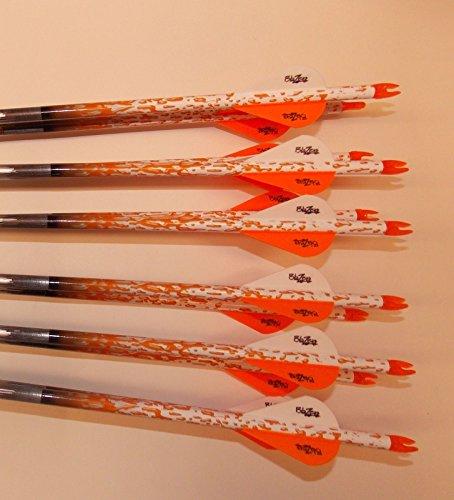Gold Tip Velocity 340 Carbon Arrows wBlazer Vanes Rain Wraps 1 Dz