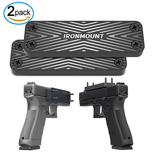 Gun Magnet Mount 2-Pack  43 Lbs Rated  IronMount Rubber Coated Magnetic Gun Mount Holster  Concealed Holder for Car Handgun Pistol Shotgun Rifle