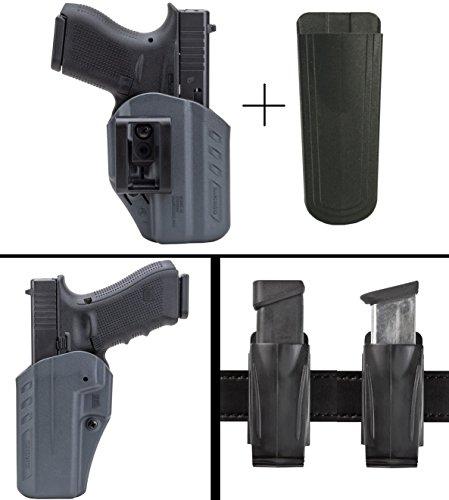 BlackHawk Glock 43 ARC Ambidexterous ITW IWB Inside The Waistband Concealment Holster Urban Grey Gray  Ultimate Arms Gear 9mm4045 Magazine Belt Clip Pouch Holder Black