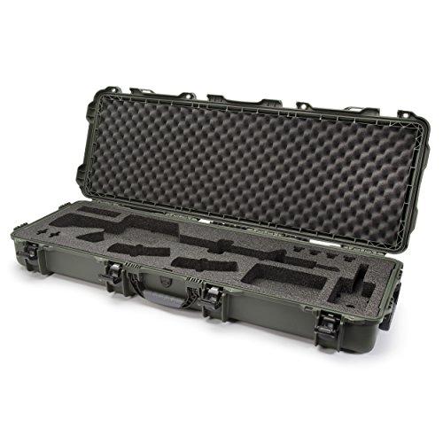 Nanuk 990 Waterproof Professional Gun Case with foam insert for AR - Olive