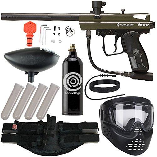 Action Village Kingman Spyder Epic Paintball Gun Package Kit Victor Olive
