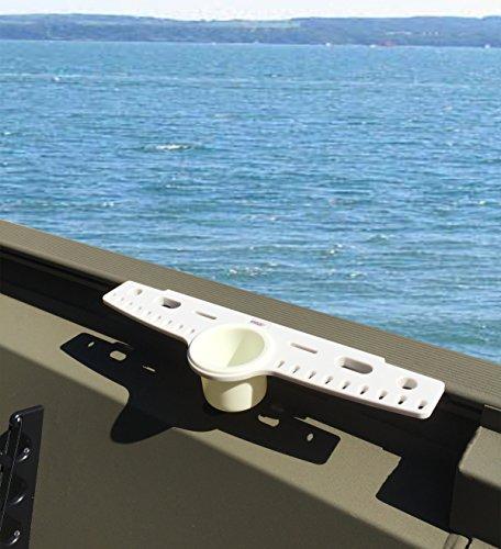 Brocraft Knife and Plier Holder Rig Rack Tracker Boat Versatrack System 90 Degree Lund Sport Track----White