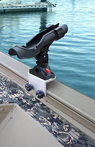 Brocraft Power Lock Rod Holder for Tracker Boat Versatrack System 90 degree Lund Sport Track