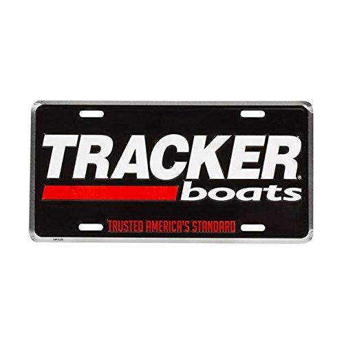 Tracker Boats Aluminum BlackRed Embossed License Plate