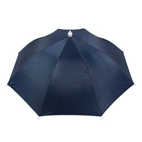 Navy Blue Elastic Headband Handsfree Umbrella Hat Headwear for Fishing