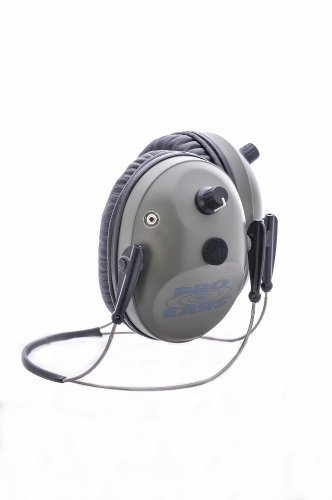 Pro Ears - Pro Tac Plus Gold - Military Grade Electronic Hearing Protection and Amplification - NRR 26 -  Behind the Head Headband - Ear Muffs - Green