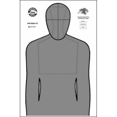 100 Pcs Kentucky State Police Qualification Target Black Graysize 23 X 35