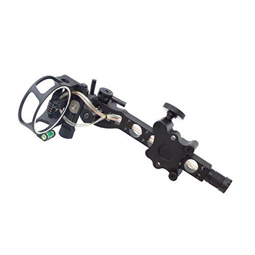 SAS 5 Pin 019 Bow Sight with Micro Adjust Detachable Bracket LED Sight Light