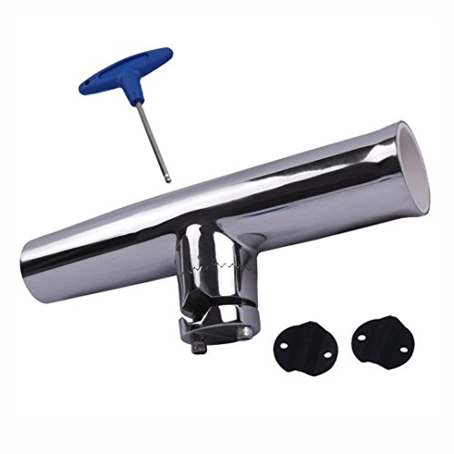 Adjustable Fishing Rod Holder Clamp on Boat Rail Comes With T - Handle Fastening Tool