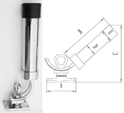 All Angle Deck-Mount Adjustable Fishing Rod Holder