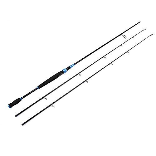 2 Piece Spinning Rod Carbon Fiber Travel Fishing Rod pole Portable Baitcast Rod Baitcaster Heavy Spinning Fishing Rod with an Alternative Top Piece24blue