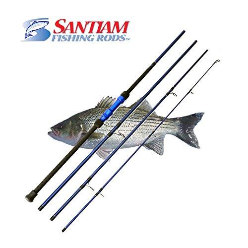Santiam Fishing Rods Travel Rod 4 Piece 11 17-40lb Surf Rod