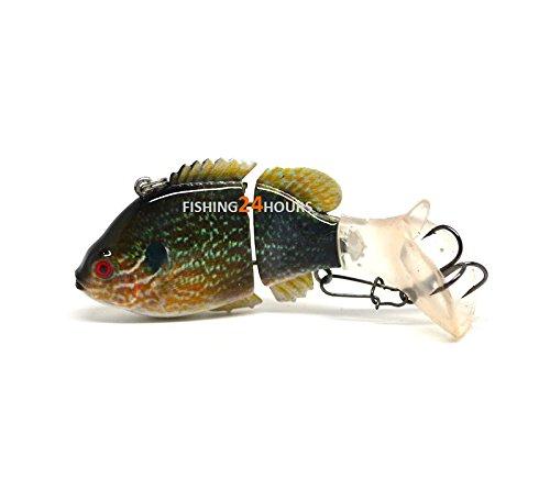 Jointed Fishing Lure Swimbait Life-like Bluegill Sunfish Pumpkinseed Bass Bluegill